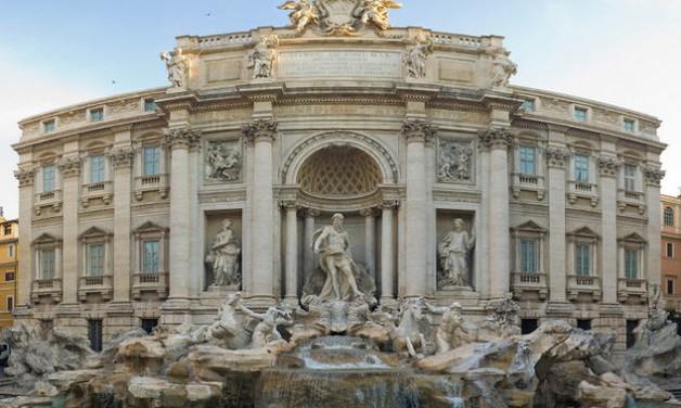 La fontaine de Trevi à Rome