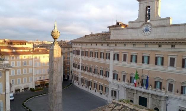 Le Palais Montecitorio, symbole de la vie politique italienne
